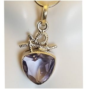 """10ct Color Changing Alexandrite Pendant 1.5"""""""